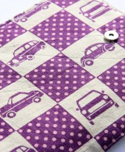 purple cars crayon wallet